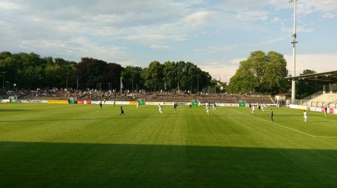 Karl-Liebknecht-Stadion Spielfeld beim Spiel Babelsberg 03 gegen Tebe Berlin